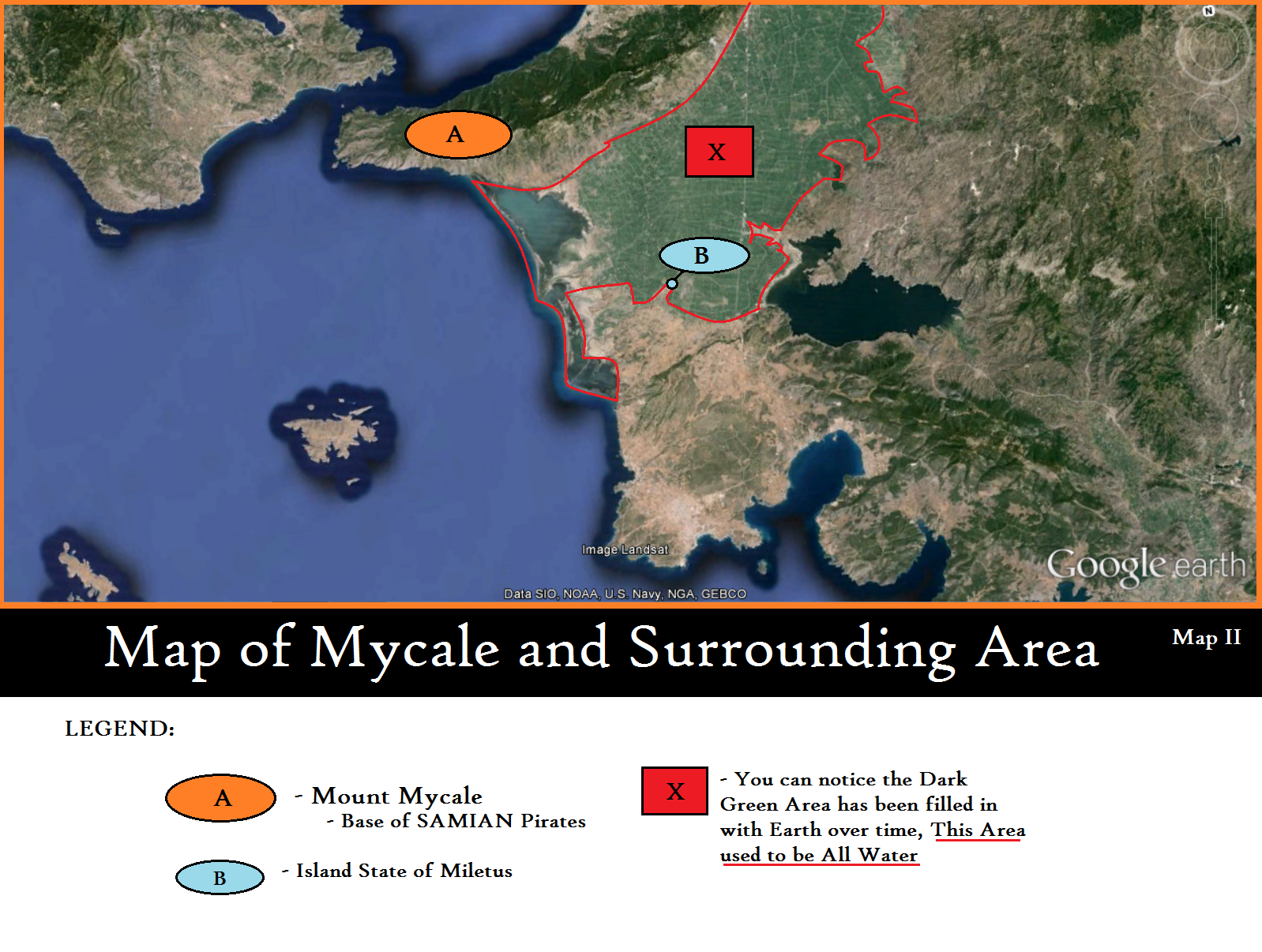 Map of Mycale and Surrounding Area